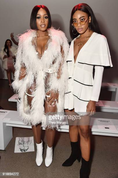 Recording artists Remy Ma and MAAD attend the Christian Cowan fashion show during New York Fashion Week The Shows at Gallery II at Spring Studios on...