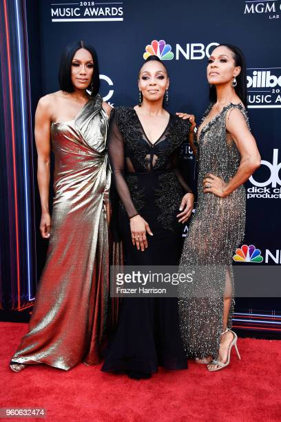 Recording artists Rhona Bennett Terry Ellis and Cindy Herron of musical group En Vogue attend the 2018 Billboard Music Awards at MGM Grand Garden...