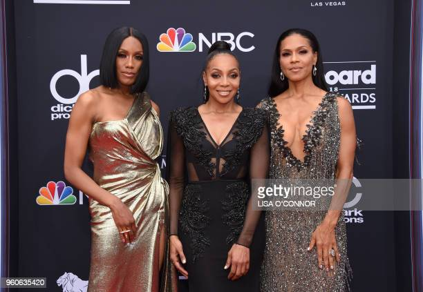 Recording artists Rhona Bennett Terry Ellis and Cindy Herron of the musical group En Vogue attend the 2018 Billboard Music Awards 2018 at the MGM...