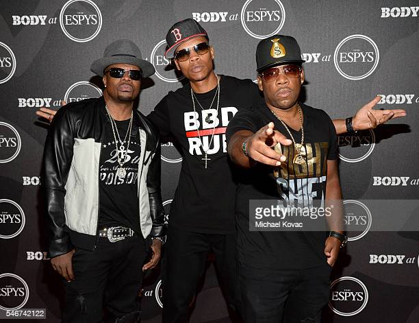 Recording artists Ricky Bell Ronnie DeVoe and Michael Bivins of Bell Biv DeVoe at the BODY at ESPYS Event on July 12th at Avalon Hollywood