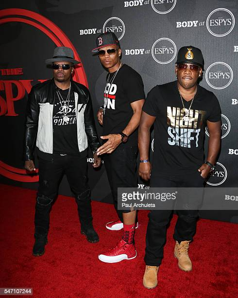 Recording Artists Ricky Bell Ronnie DeVoe and Michael Bivins of Bell Biv DeVoe attends the ESPN Magazine BODY issue party at Avalon Hollywood on July...
