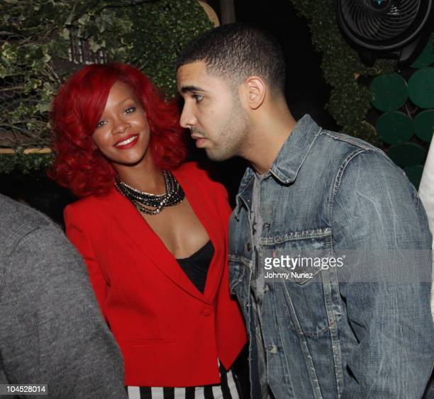 Recording artists Rihanna and Drake attend Drake's after party at Greenhouse on September 28 2010 in New York City