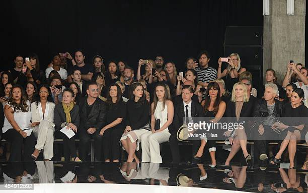 Recording artists Rihanna Laurie Anderson and Bono and Ali Hewson amd Eve Hewson musician Paul Banks model Helena Christensen and musician Adam...