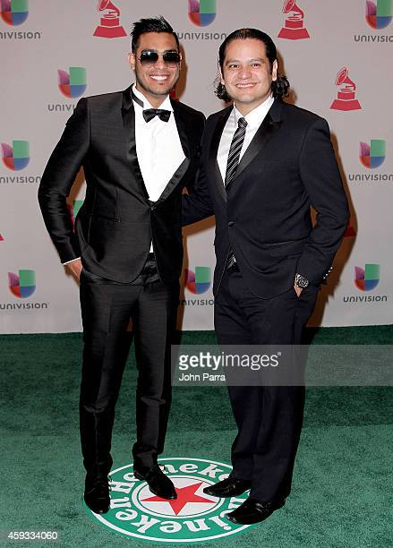 Recording artists Ronald Borjas and Johann Morales attend the 15th annual Latin GRAMMY Awards at the MGM Grand Garden Arena on November 20 2014 in...