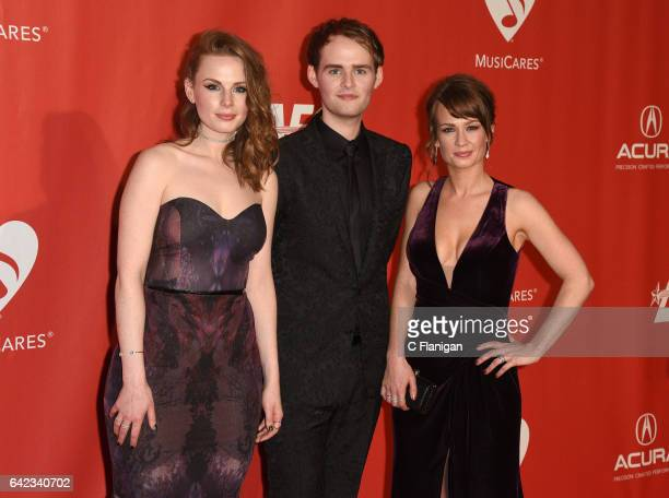 Recording artists Roseanna Brown, Jonathan Brown and Alanna Brown of musical group The Rua attend MusiCares Person of the Year honoring Tom Petty at...