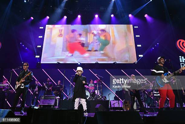 Recording artists Roy Hay Boy George Jon Moss and Mikey Craig of music group Culture Club perform onstage during the first ever iHeart80s Party at...