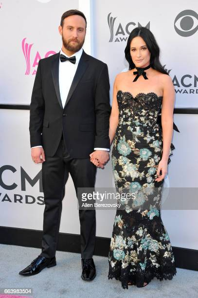 Recording artists Ruston Kelly and Kacey Musgraves arrive at the 52nd Academy Of Country Music Awards on April 2 2017 in Las Vegas Nevada