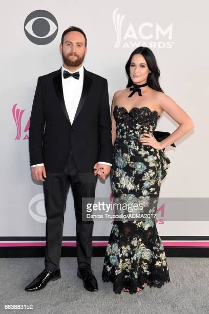 Recording artists Ruston Kelly and Kacey Musgraves attend the 52nd Academy of Country Music Awards at Toshiba Plaza on April 2 2017 in Las Vegas...