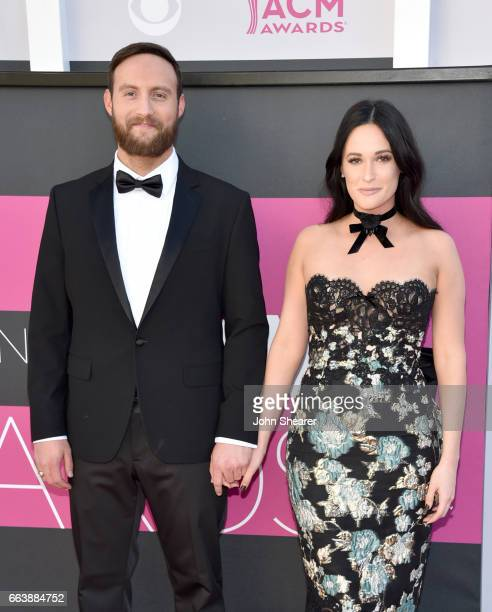 Recording artists Ruston Kelly and Kacey Musgraves attends the 52nd Academy Of Country Music Awards at Toshiba Plaza on April 2 2017 in Las Vegas...