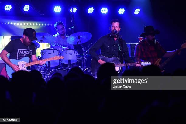 Recording Artists Ryan Engelman Gabriel Pearson Evan Felker and RC Edwards of the Turnpike Troubadours perform onstage during the 18th Annual...