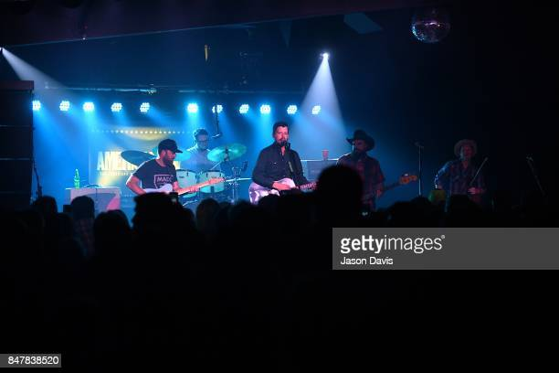 Recording Artists Ryan Engelman Gabriel Pearson Evan Felker RC Edwards and Kyle Nix of the Turnpike Troubadours perform onstage during the 18th...