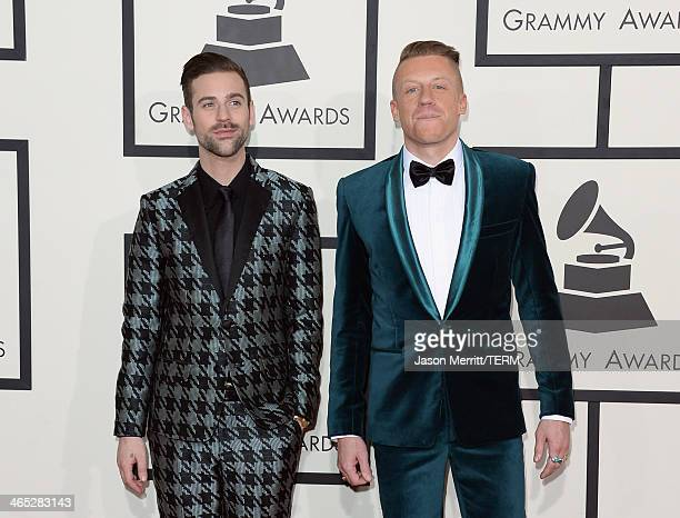 Recording artists Ryan Lewis and Macklemore attend the 56th GRAMMY Awards at Staples Center on January 26, 2014 in Los Angeles, California.