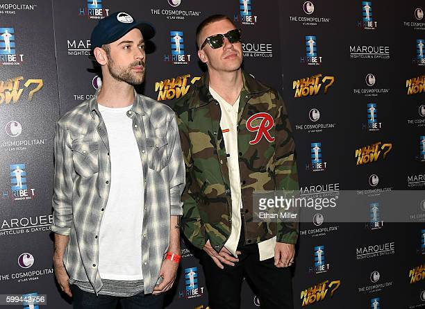 Recording artists Ryan Lewis and Macklemore attend the third annual HartBeat Weekend at The Boulevard Pool at The Cosmopolitan of Las Vegas on...