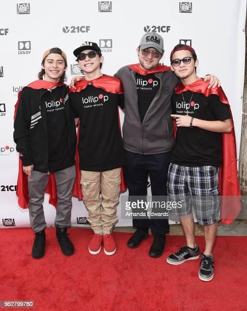 Recording artists Ryan Ochoa Raymond Ochoa Rick Ochoa and Robert Ochoa of the Ochoa Boyz attend the 2nd Annual Lollipop Superhero Walk benefiting the...