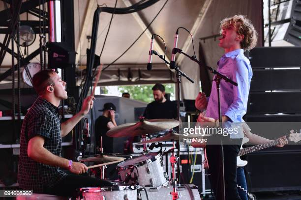 Recording artists Ryan Winnen and Chase Lawrence of Coin perform onstage at Which Stage during Day 3 of the 2017 Bonnaroo Arts And Music Festival on...