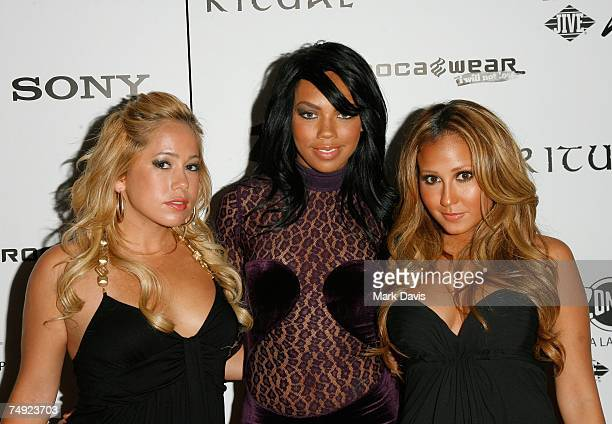 Recording artists Sabrina Bryan Kiely Williams and Adrienne Bailon arrive to Zomba Label Group's PreBET Awards Party featuring Ciara held at Ritual...