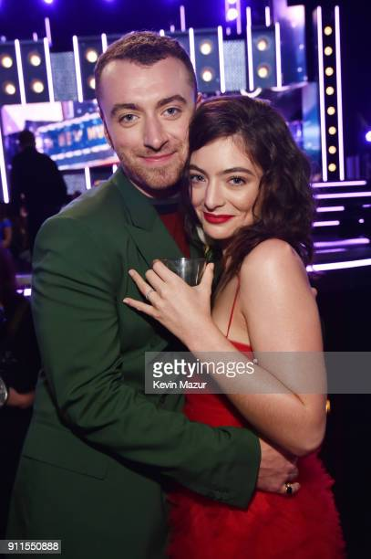 Recording artists Sam Smith and Lorde attend the 60th Annual GRAMMY Awards at Madison Square Garden on January 28 2018 in New York City