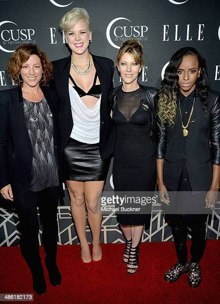 Recording artists Sarah McLachlan and Betty Who EditorinChief of ELLE Robbie Myers and recording artist Angel Haze attend the 5th Annual ELLE Women...