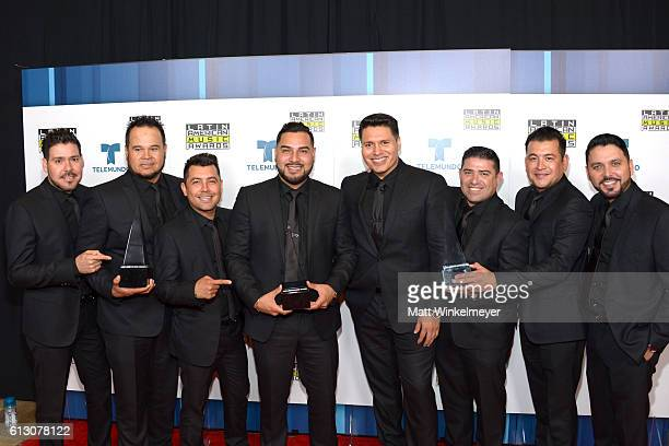 Recording artists Sergio Lizarraga Alan Ramirez and members of Banda MS winners of Favorite Duo or Group Regional Mexican attend the 2016 Latin...