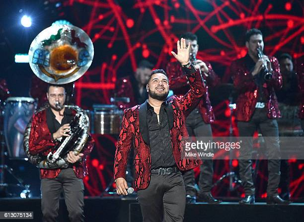 Recording artists Sergio Lizarraga and Alan Ramirez of Banda MS perform onstage during the 2016 Latin American Music Awards at Dolby Theatre on...