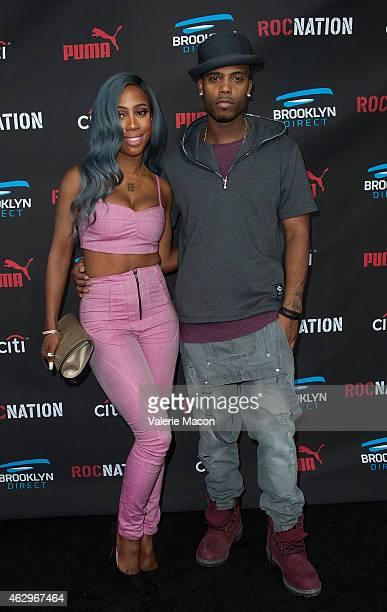Recording artists Sevyn Streeter and BoB arrive at the Roc Nation PreGRAMMY Brunch on February 7 2015 in Beverly Hills California