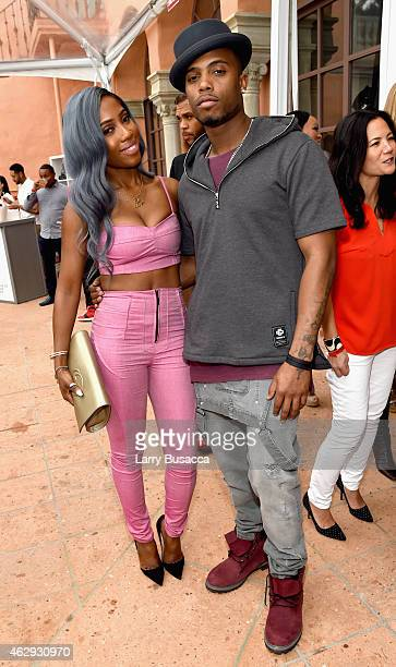 Recording artists Sevyn Streeter and BoB attend Roc Nation and Three Six Zero PreGRAMMY Brunch 2015 at Private Residence on February 7 2015 in...