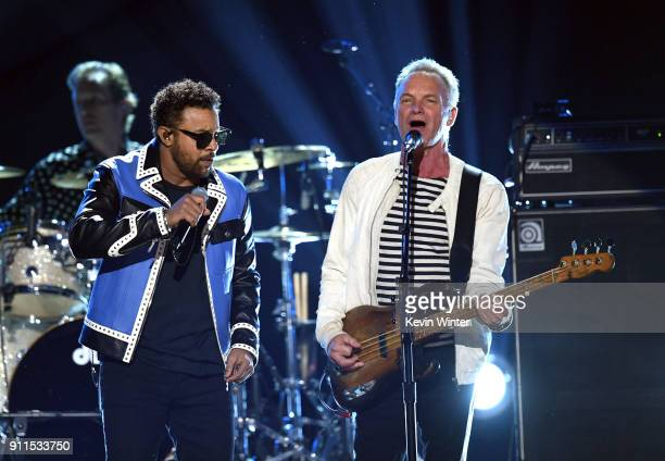 Recording artists Shaggy and Sting perform onstage during the 60th Annual GRAMMY Awards at Madison Square Garden on January 28 2018 in New York City