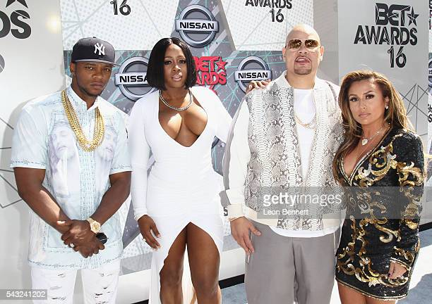 Recording Artists Shamele Mackie Remy Ma Fat Joe and Lorena Cartagena attend the Make A Wish VIP Experience at the 2016 BET Awards on June 26 2016 in...