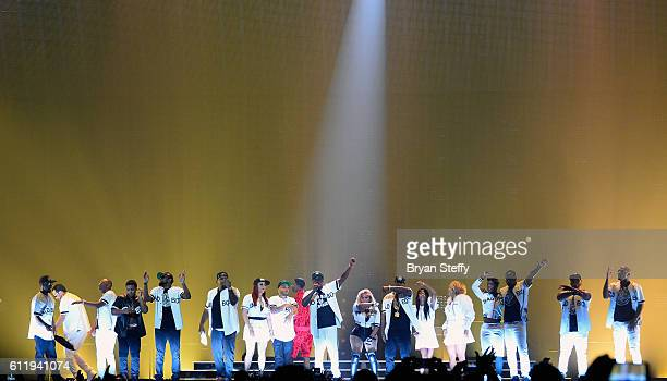 Recording artists Sheek Louch Faith Evans Christian 'King' Combs Sean Puff Daddy' Combs Lil KimJadakiss and Kima Raynor Dyson Pamela Long and Keisha...