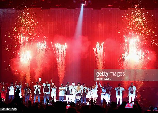 Recording artists Sheek Louch Faith Evans Sean Puff Daddy' Combs Lil Kim Jadakiss and Kima Raynor Dyson Pamela Long and Keisha Spivey Epps of TOTAL...