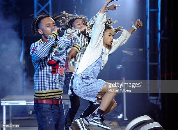 Recording artists Slim Jimmy Swae Lee of Rae Sremmurd and special guest Jaden Smith perform onstage during day 1 of the 2016 Coachella Valley Music...