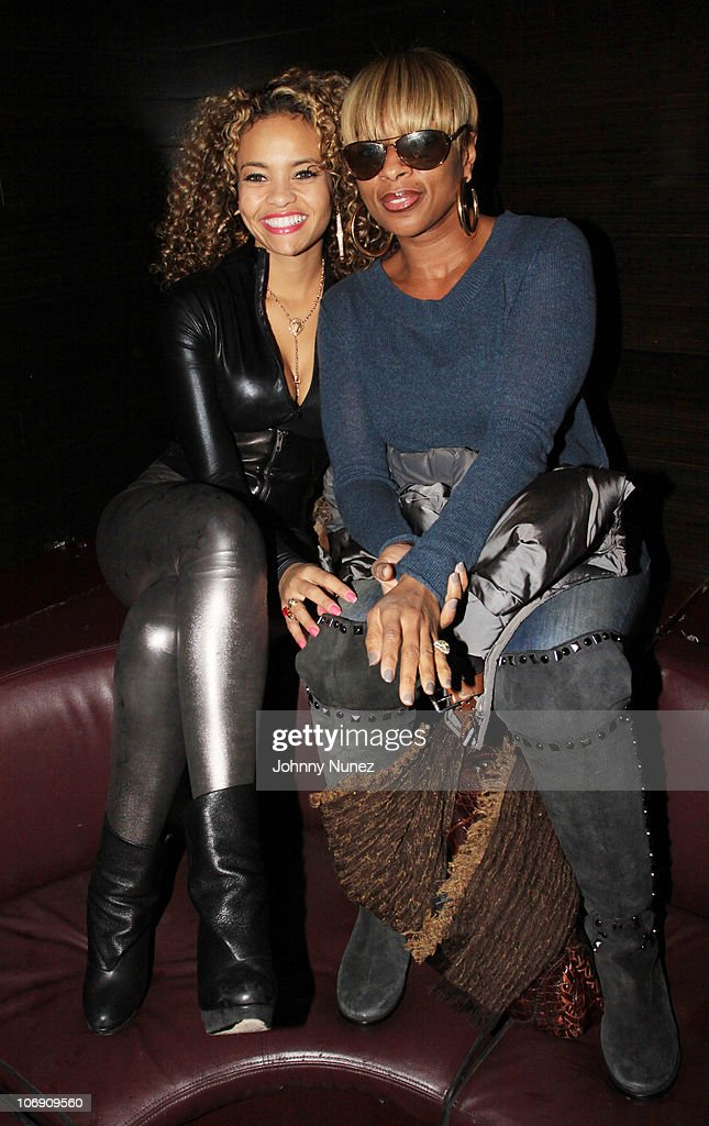 Recording artists Starshell and Mary J. Blige visit Greenhouse on November 15, 2010 in New York City.