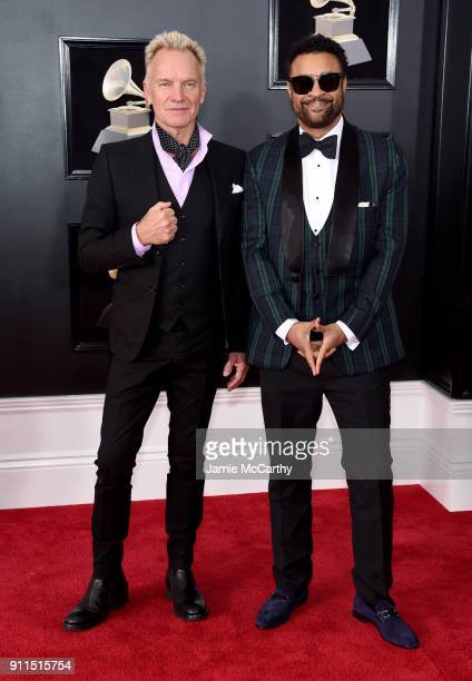 Recording artists Sting and Shaggy attend the 60th Annual GRAMMY Awards at Madison Square Garden on January 28 2018 in New York City