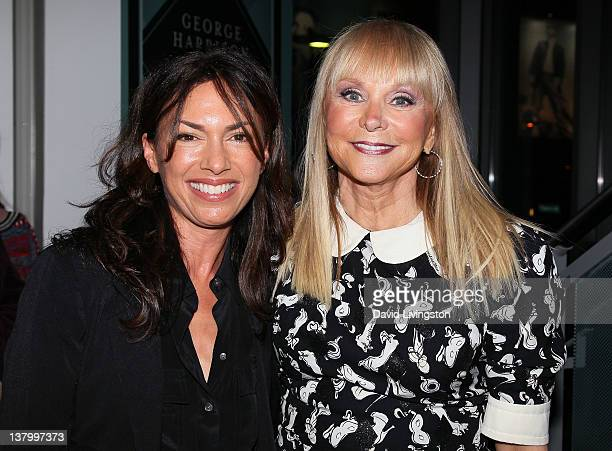 Recording artists Susanna Hoffs and Jackie DeShannon attend An Evening With Jackie DeShannon at The GRAMMY Museum on January 30 2012 in Los Angeles...