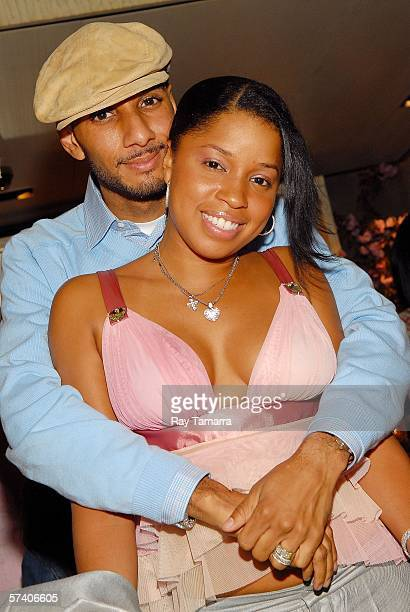 Recording artists Swizz Beatz and his wife Mashonda attend Fat Joe and Lorena Cartagena's Baby Shower at Cain on April 23 2006 in New York City