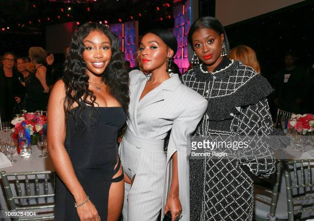 Recording artists SZA Janelle Monae and Tierra Whack attend the Billboard's Women In Music 2018 with FIJI water at Pier 36 on December 6 2018 in New...