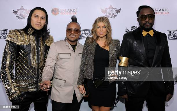 Recording artists Taboo apldeap Fergie and william of the The Black Eyed Peas attend Bacardi presents The Black Eyed Peas Peapod Benefit at The Music...