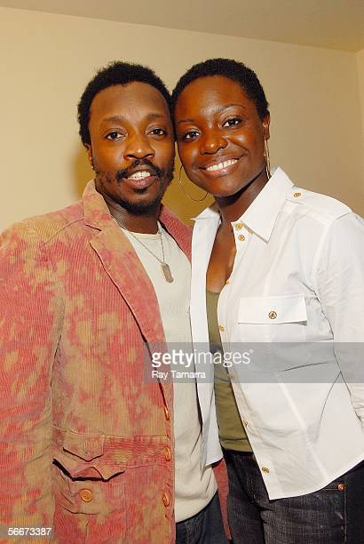 Recording artists Tarsha McMillan and her husband Anthony Hamilton attend Anthony Hamilton's Performance at the Canal Room January 25 2006 in New...