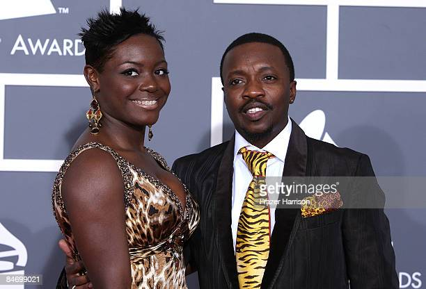 Recording artists Tarsha McMillan and her husband Anthony Hamilton arrive at the 51st Annual Grammy Awards held at the Staples Center on February 8...