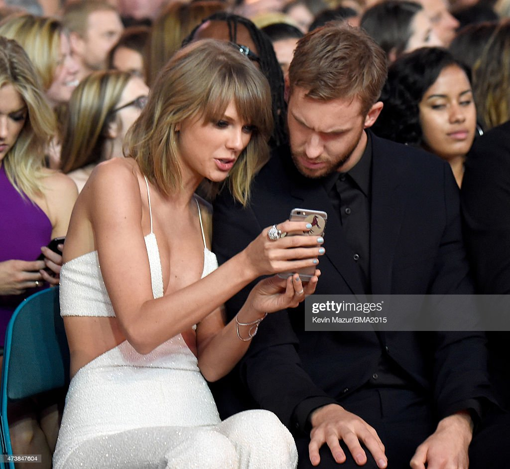 Recording artists Taylor Swift (L) and Calvin Harris attend the 2015 Billboard Music Awards at MGM Grand Garden Arena on May 17, 2015 in Las Vegas, Nevada.