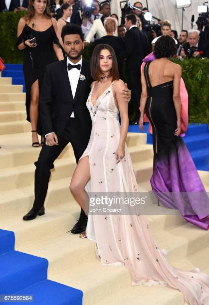 Recording artists The Weeknd and Selena Gomez attend 'Rei Kawakubo/Comme des Garcons Art Of The InBetween' Costume Institute Gala at Metropolitan...