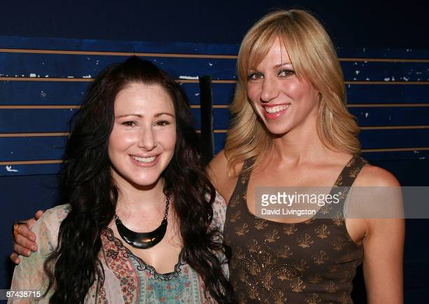 Recording artists Tiffany and Deborah Gibson attend the Search for Electric Youth Scholarship Auditions at the Howard Fine Acting Studio on May 16...