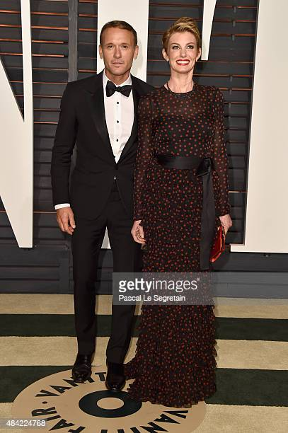 Recording artists Tim McGraw and Faith Hill attend the 2015 Vanity Fair Oscar Party hosted by Graydon Carter at Wallis Annenberg Center for the...