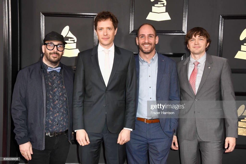 Recording artists Tim Nordwind, Damian Kulash, Dan Konopka, and Andy Ross of music group OK Go attend The 59th GRAMMY Awards at STAPLES Center on February 12, 2017 in Los Angeles, California.