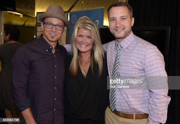Recording Artists TobyMac Natalie Grant and Brandon Heath during the 45th Annual GMA Dove Awards Nominations Press Conference at Allen Arena on...