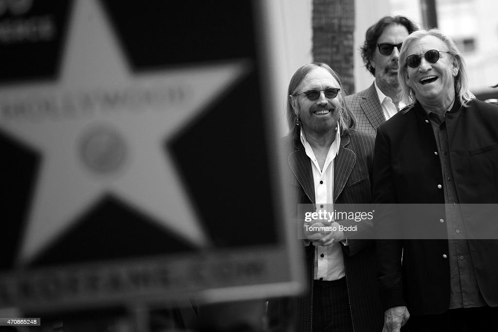 Recording artists Tom Petty and Joe Walsh attend a ceremony honoring Recording artist Jeff Lynne wtih a Star on The Hollywood Walk Of Fame on April 23, 2015 in Hollywood, California.