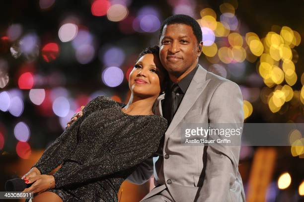 Recording Artists Toni Braxton and Kenny 'Babyface' Edmonds perform at The Grove's 11th Annual Christmas Tree Lighting Spectacular at The Grove on...
