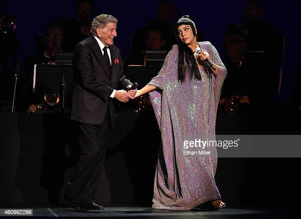 Recording artists Tony Bennett and Lady Gaga perform their New Year's Eve concert together complete with a midnight countdown at The Chelsea inside...