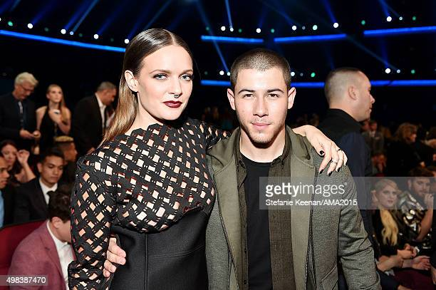 Recording artists Tove Lo and Nick Jonas attend the 2015 American Music Awards at Microsoft Theater on November 22 2015 in Los Angeles California