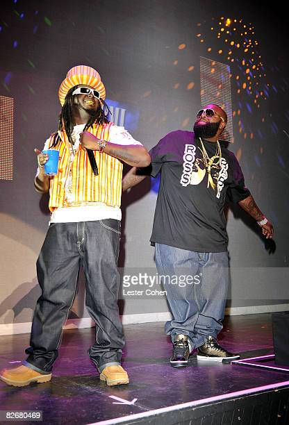 Recording artists TPain Rick Ross perform during the 2008 BMI Urban Awards held at the Wilshire Theatre on September 4 2008 in Los Angeles California